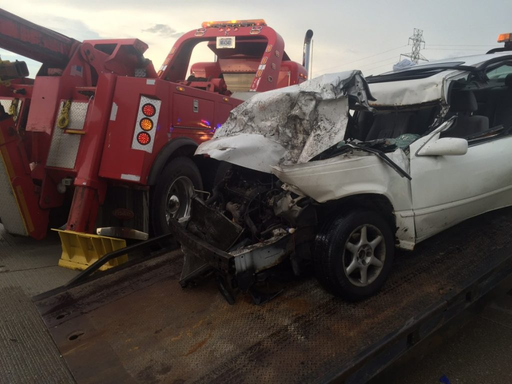 PIN-IN UNDERRIDE CRASH ON THE US 20 BYPASS